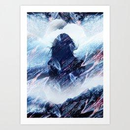 Magma Girl Art Print