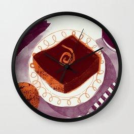 Let Them Eat Cake - Chocolate Orange Brownie Wall Clock