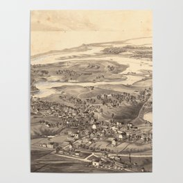 Vintage Pictorial Map of Chatham Massachusetts (1894) Poster