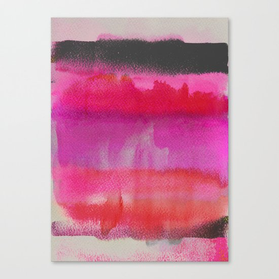 Red on Pink Canvas Print
