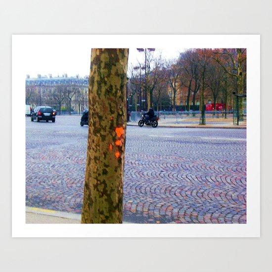 I Left My Heart In Paris Art Print