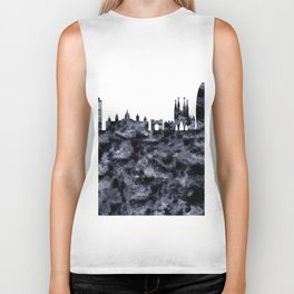 Barcelona Skyline Spain Biker Tank