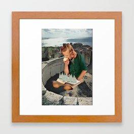Girl Sees Framed Art Print