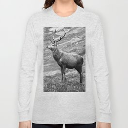 Stag b/w Long Sleeve T-shirt