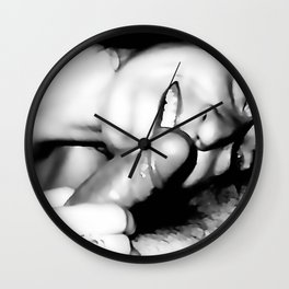 "NSFW! Adult content! Cartoon sex play, two words to ""microphone"" Wall Clock"