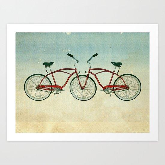 2 bikes 3 wheels Art Print