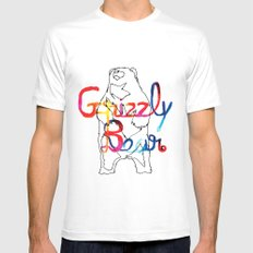 Grizzly Bear Mens Fitted Tee MEDIUM White
