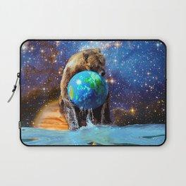 Give Planet Earth A Bear Hug! Laptop Sleeve