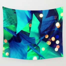 Senbazuru | greens n blues Wall Tapestry