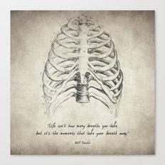 Breathe Quote Canvas Print