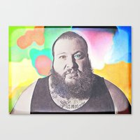 action bronson Canvas Prints featuring Action Bronson by Enna