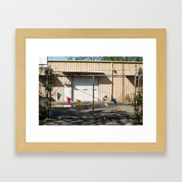 Party Fence Framed Art Print