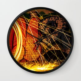 Haunted Spark Wall Clock