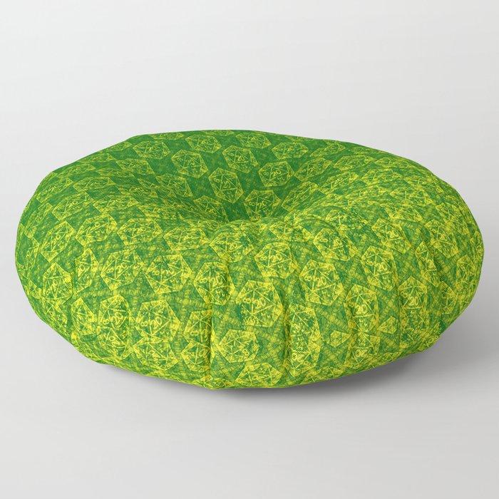 D20 Druid Ranger Crit Pattern Premium Floor Pillow