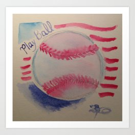 Play ball! Art Print