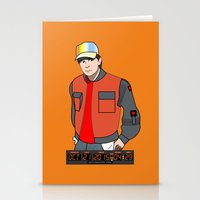 mcfly Stationery Cards featuring Marty McFly by Pendientera