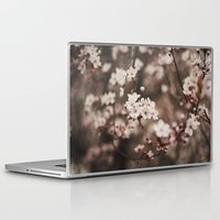cherry blossom Laptop & iPad Skins featuring Cherry Blossom by Evan Dalen