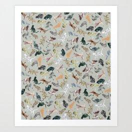 Marble Cats Kunstdrucke
