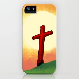 People Going to the Cross iPhone Case