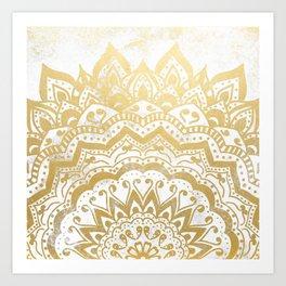 GOLD ORION JEWEL MANDALA Art Print