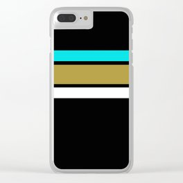 Team Colors 2...Light blue, gold Clear iPhone Case