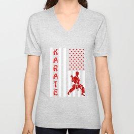 Patriotic Karateka Unisex V-Neck