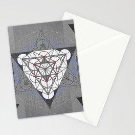 Merkaba Blueprint Sacred Portal Print Stationery Cards