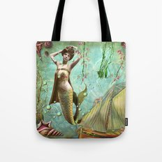 Life in the deep blue sea Tote Bag