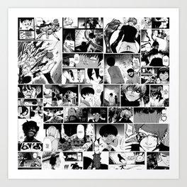 Tokyo Ghoul Manga Caps Art Print