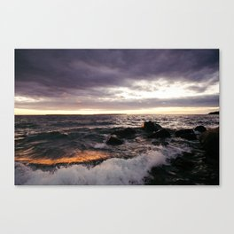 The Shoulders Of Waves Canvas Print