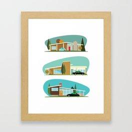Hollywood Bungalows Framed Art Print