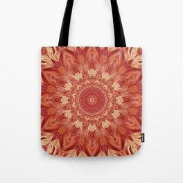 Mandala Flower red Tote Bag
