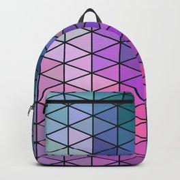 Purple Geometric Pattern Backpack