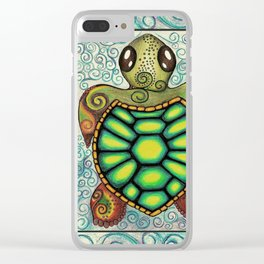 Baby Sea Turtle Clear iPhone Case