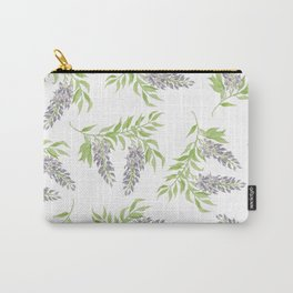 Purple Wisteria Floral Branch  Carry-All Pouch