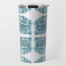 Bluefish Fish India Block Print Boho Travel Mug