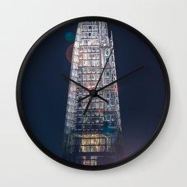 Close-up of The Shard at night Wall Clock