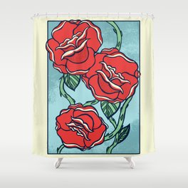 Growing Roses Shower Curtain