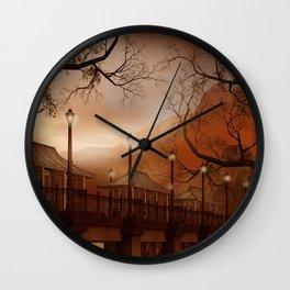 Asian Bridge Wall Clock