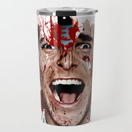American Psycho Patrick Bateman serial killer digital artwork Travel Mug