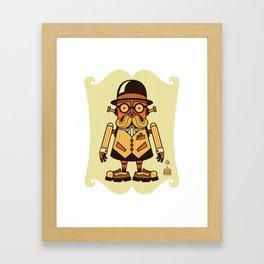 Moustache Bot Framed Art Print