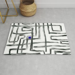 Small Square and Blue Rug