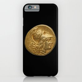Alexander the Great - Antique Gold Coin Design iPhone Case