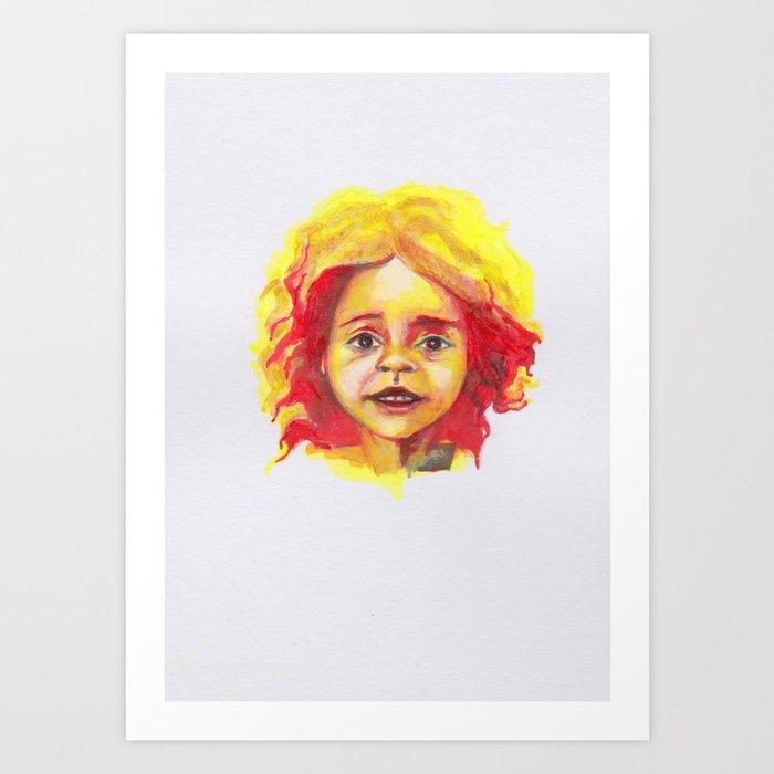 Petites têtes 5 Art Print