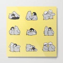 baby penguin print Metal Print