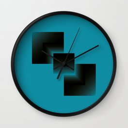 two energies blue black tower Wall Clock