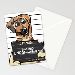 Eating Undergarments Stationery Cards