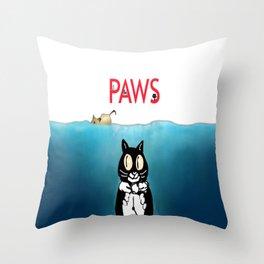 PAWS Throw Pillow