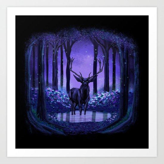 Elf Forest Art Print