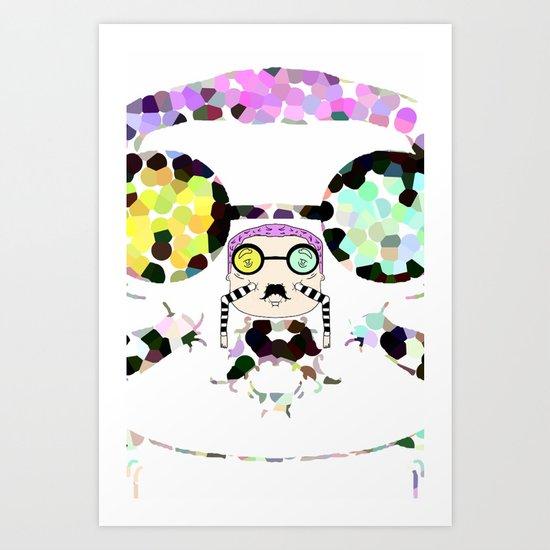 Monsieur Steams Art Print